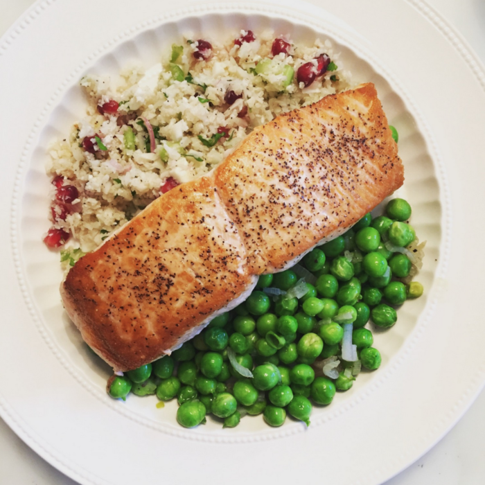 Salmon & Cauliflower Tabouleh
