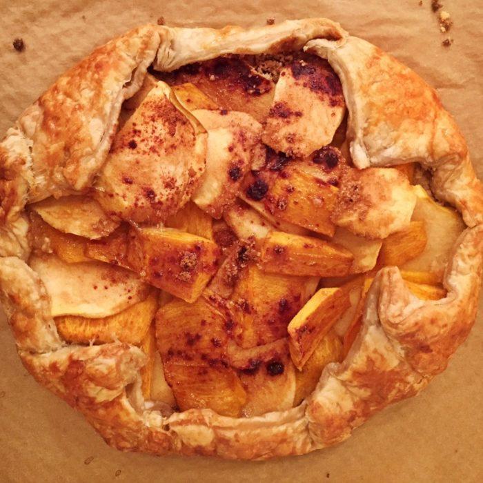 Apple Persimmon Galette