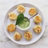 Mini Crab Cakes with Basil Mayo