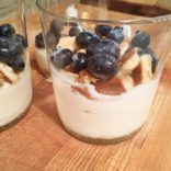 Lemon Mousse with Crumble Shortbread and Blueberries