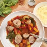 Sweet Potatoes and Turkey Sausage Stew