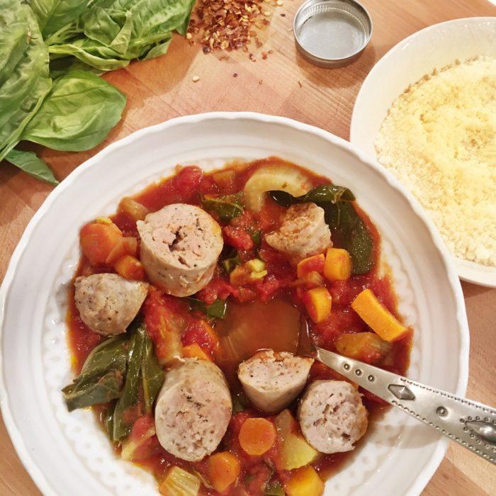 Sweet Potatoes and Turkey Sausage Stew