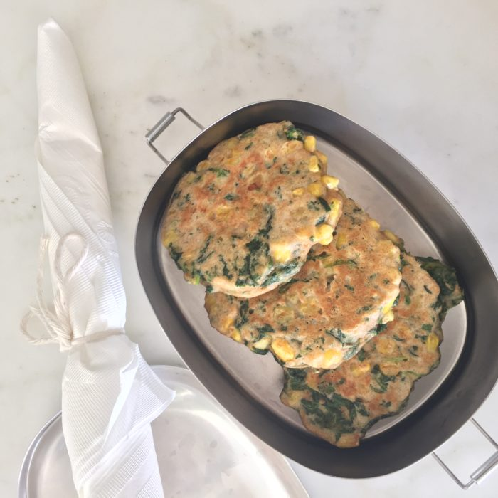Corn and Spinach Pancakes