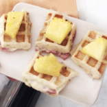 Mini Grilled Hawaiian Waffle Sandwiches