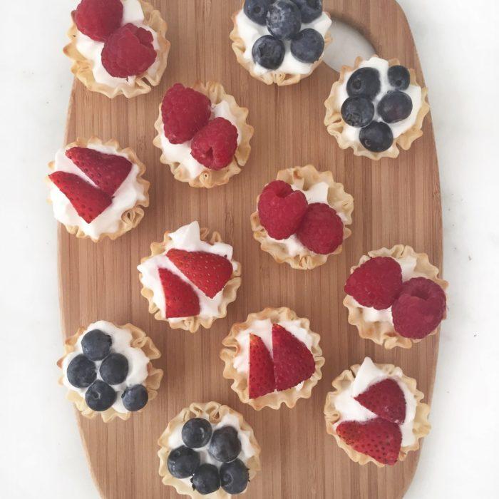 Red, White & Blue Mini Fruit Tarts