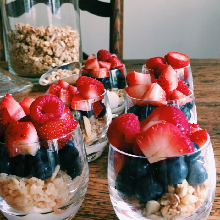 Red, White & Blue Granola Parfait