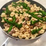 Pasta wit brocoli and Italian sausages