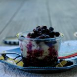 Coconut rice with Blueberry Compote