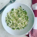 Sautee cauli-brocoli rice