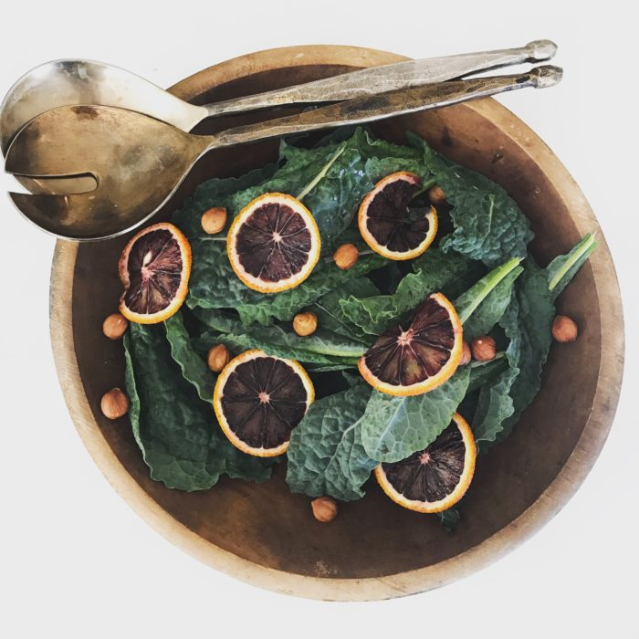 Marinated kale citrus salad
