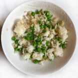 Rice pilaf with cauliflower and peas