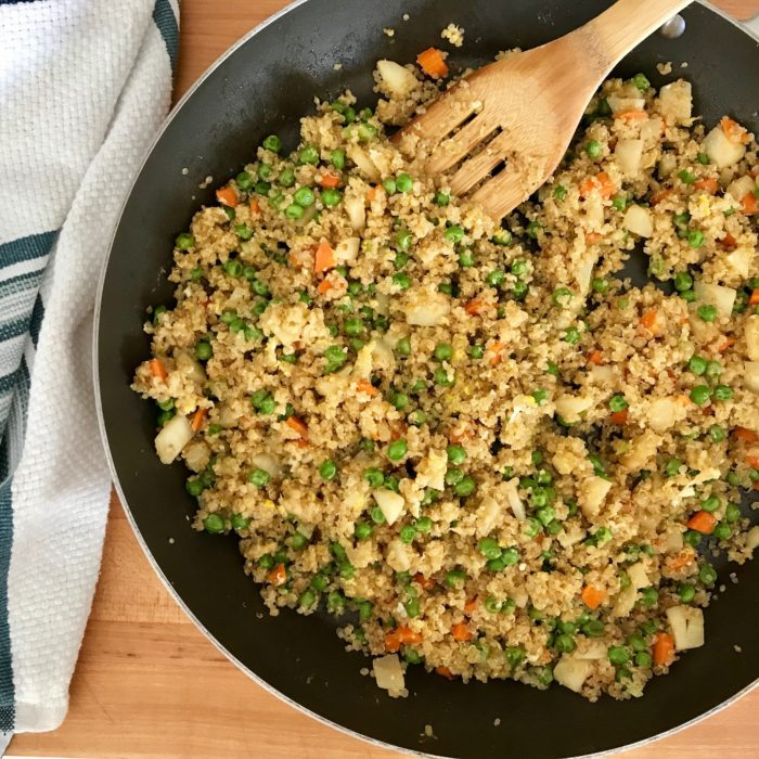 quinoa fried rice style