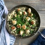 1 Pot Turkey meatballs with caulirice