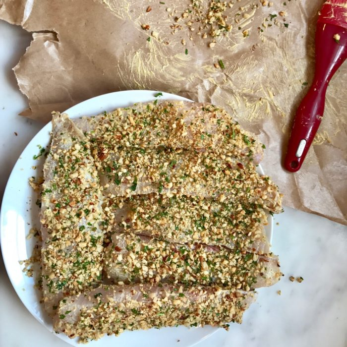 Nuts crusted Tilapia