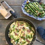 Prosciutto and asparagus frittata