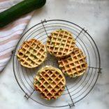 Zucchini - Pea Waffles