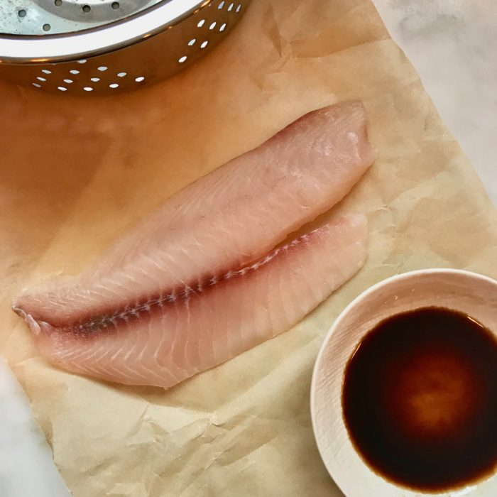 Asian flavored Steamed Fish