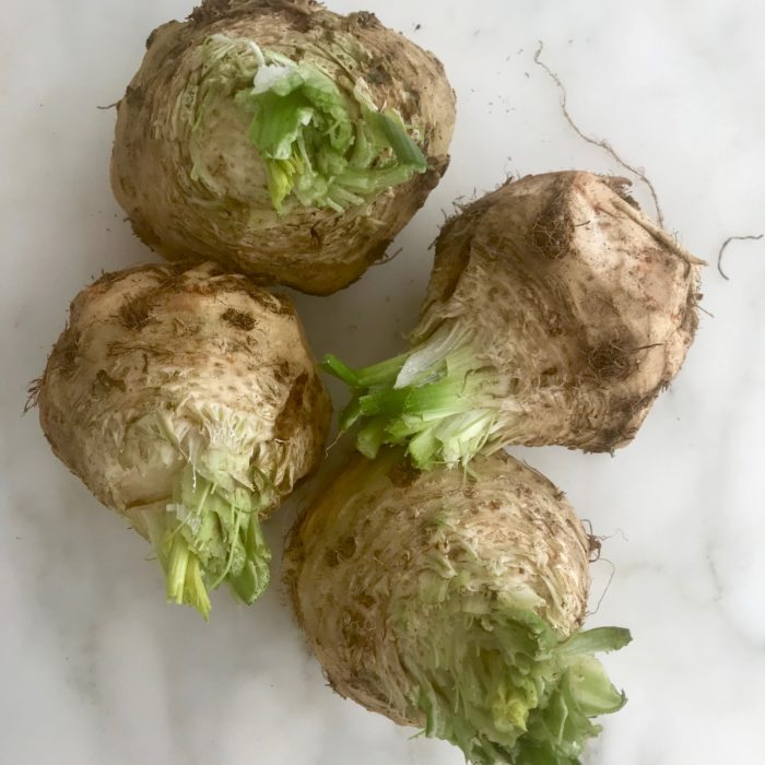 Coconut - Celery root soup