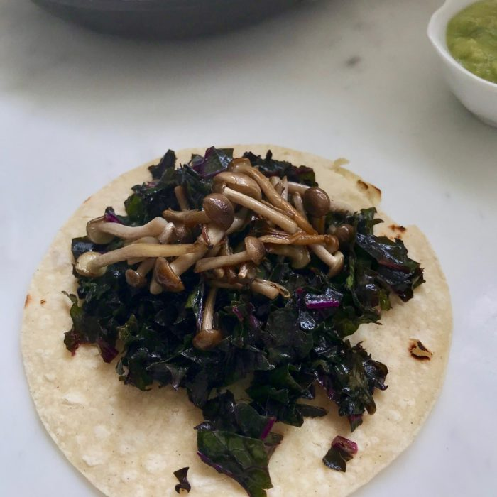 Kale Mushroom Tacos