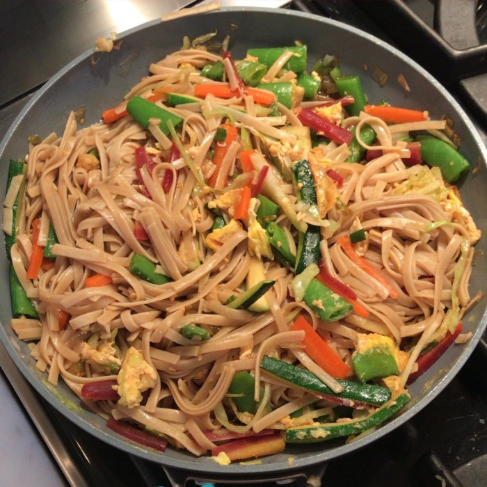 Brown rice Asian noodles