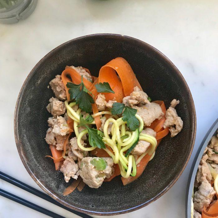 Thai Turkey with Veggie Noodles
