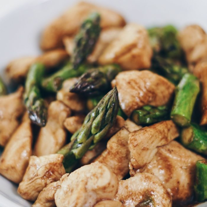 Balsamic Chicken with Asparagus