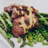 1 Skillet Steak with Peas and Asparagus