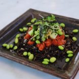 Salmon Tartare on Black Rice