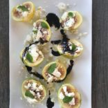 Fresh Figs with Feta and Mint