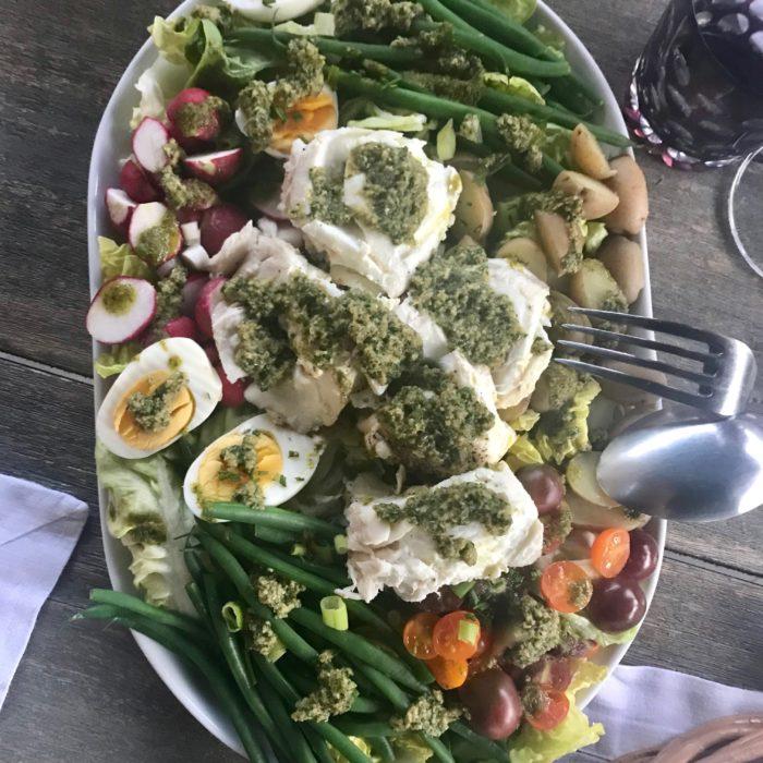 Halibut Niçoise Salad