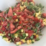 Late summer veggie salad