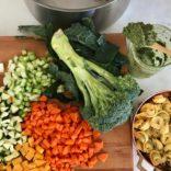 Tortellini pesto minestrone soup