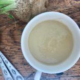 Celery root leek soup