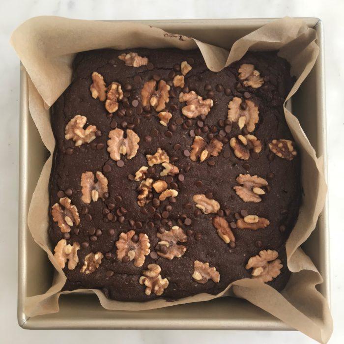 Chocolate-walnuts brownies