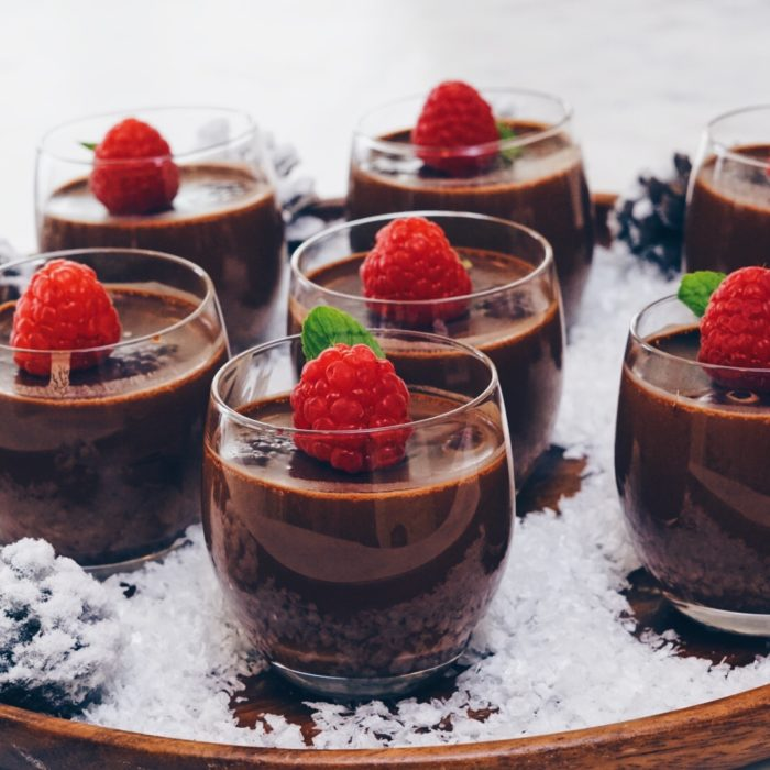 Chocolate - raspberry pot de creme
