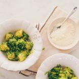 Creamy pea gnocchis