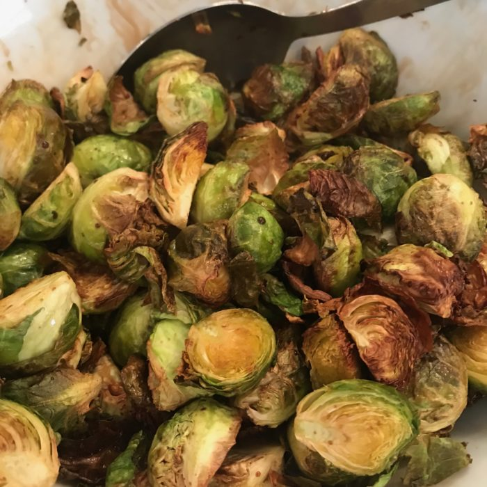 Crispy balsamic Brussels sprouts