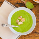 Cold pean avocado soup