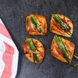 Asparagus and prosciutto puffs