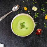 Cucumber and cantaloupe gazpacho