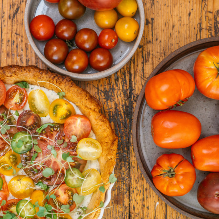 Ricotta and fresh tomato tart