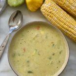 Corn zucchini chowder