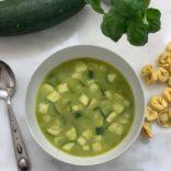 Zucchini tortellini soup