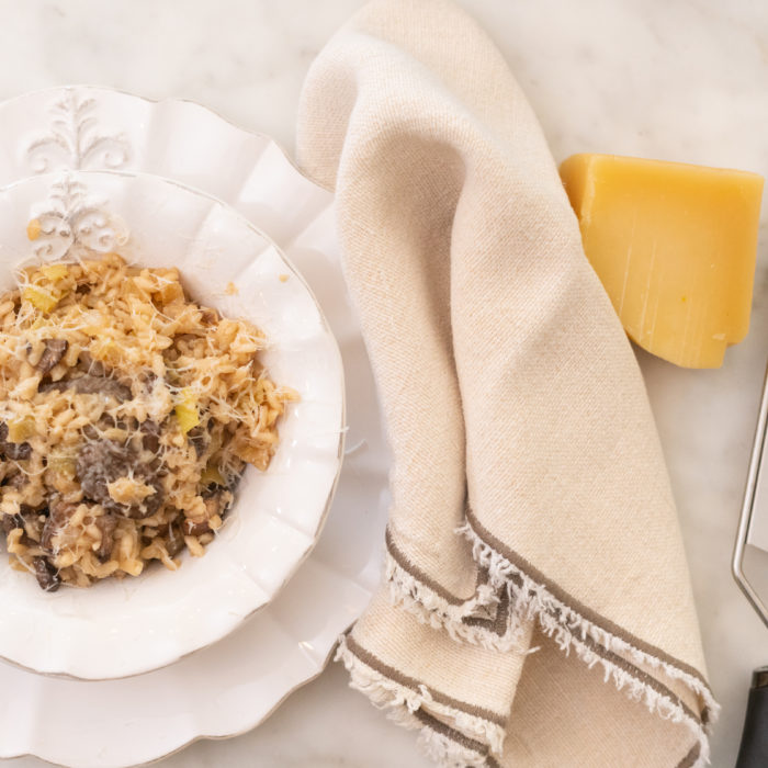 Mushroom caulirice risotto