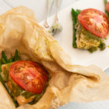 Salmon pesto packets