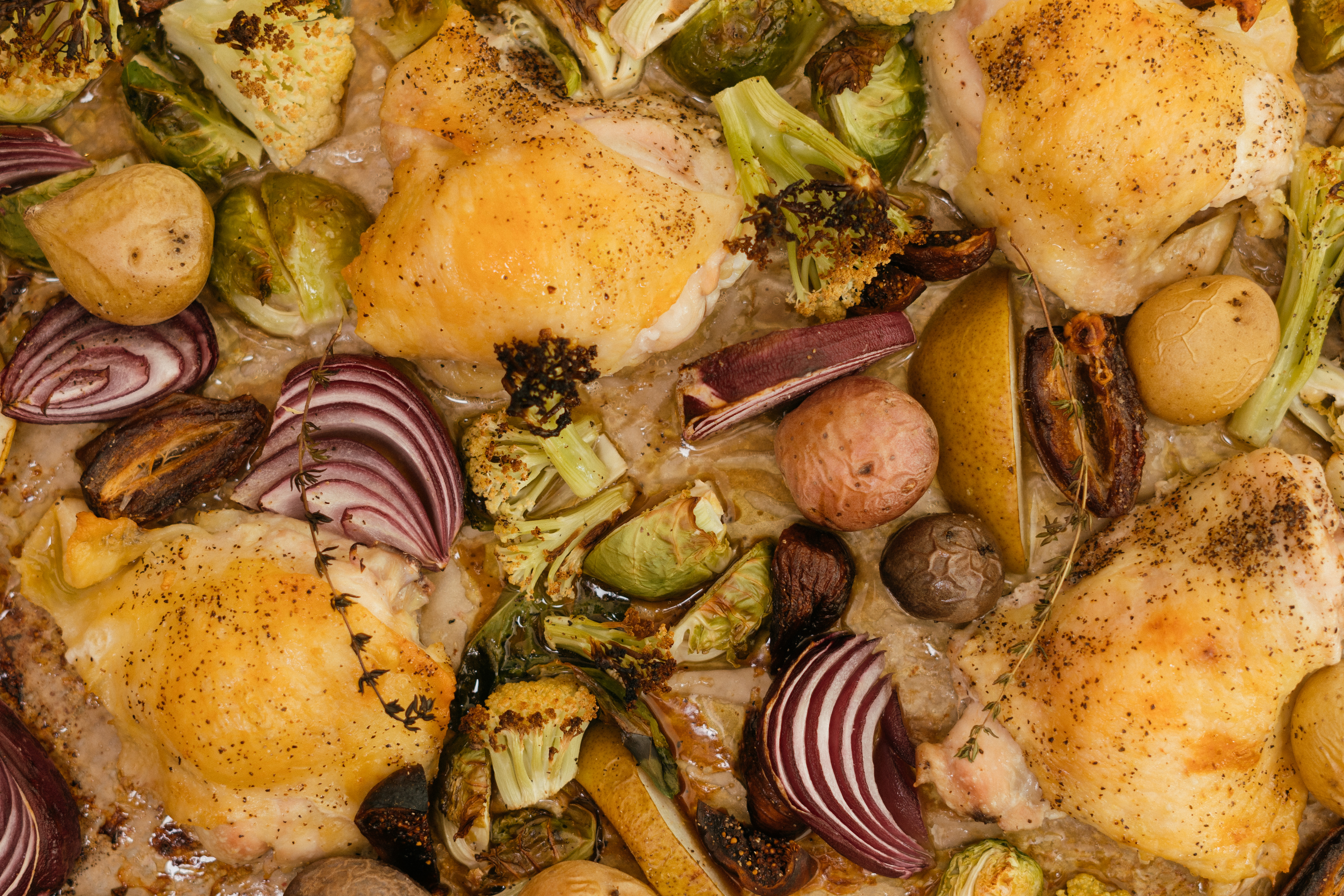 Harvest chicken tray bake