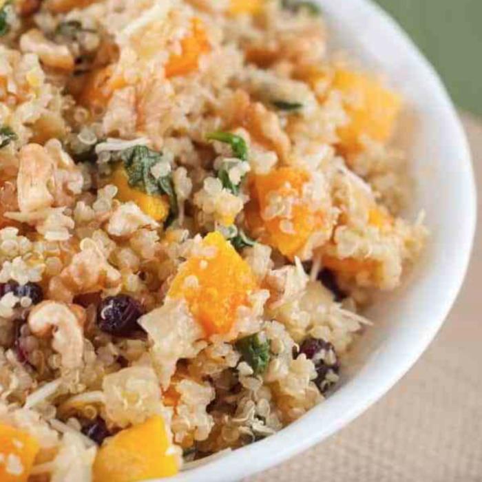 Harvest quinoa