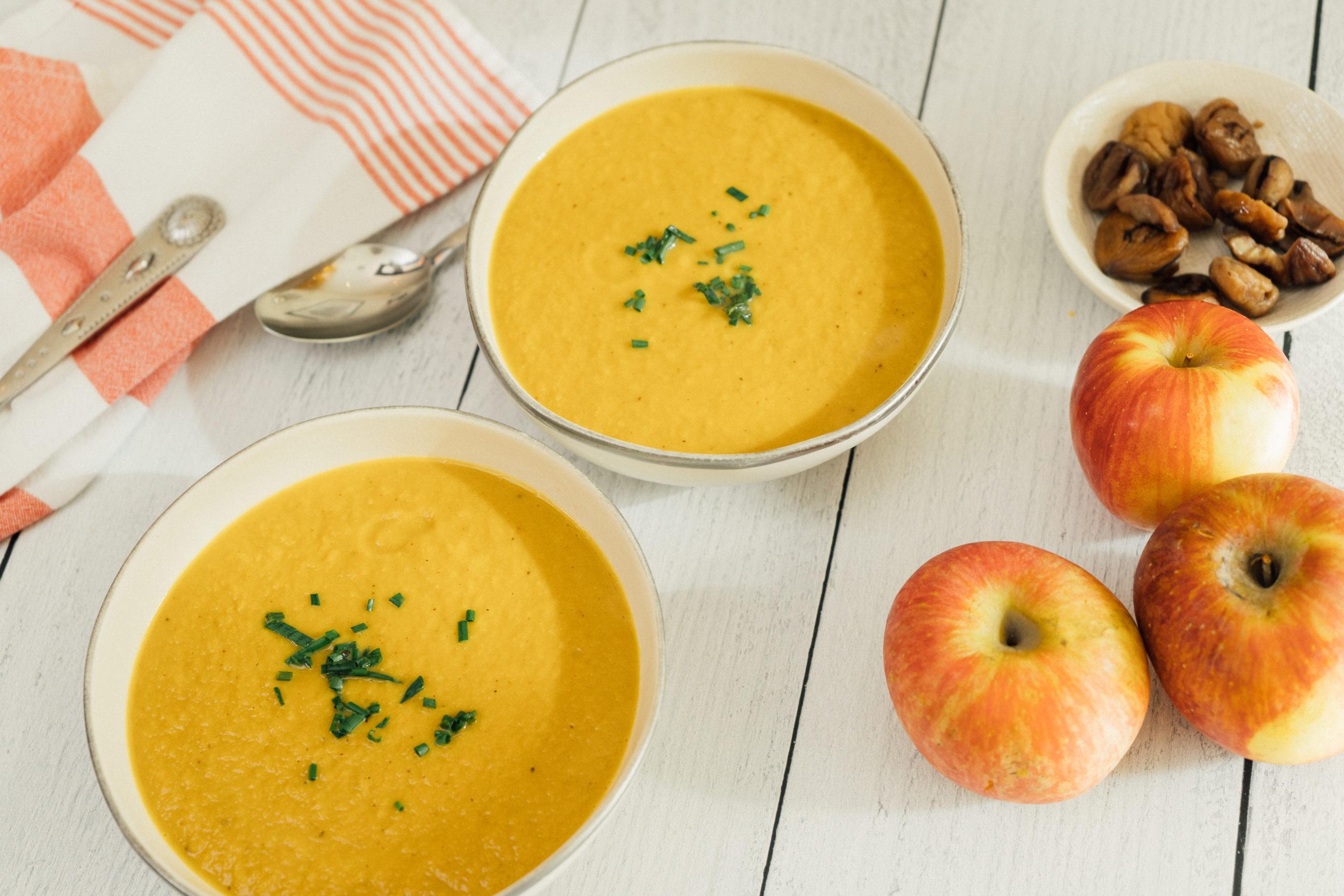 Chestnut apple soup