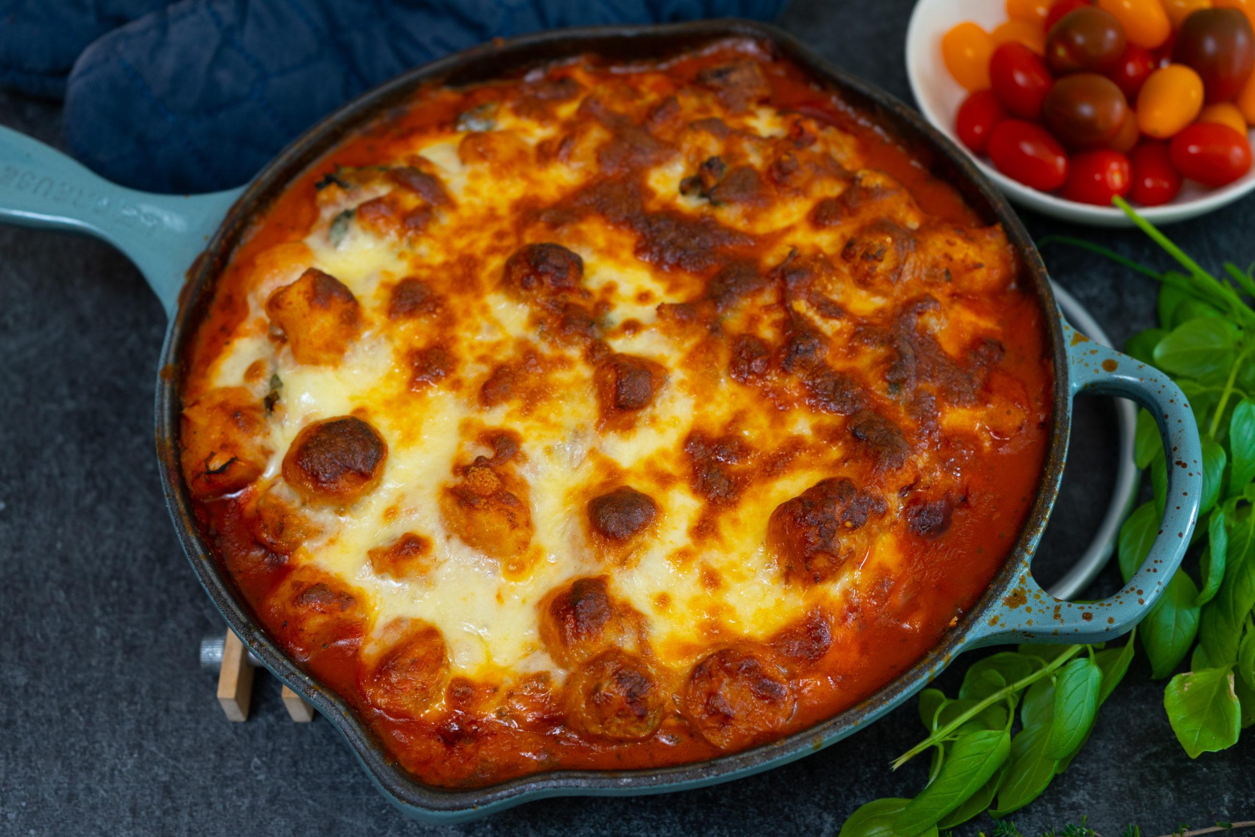 Kale gnocchi lasagna