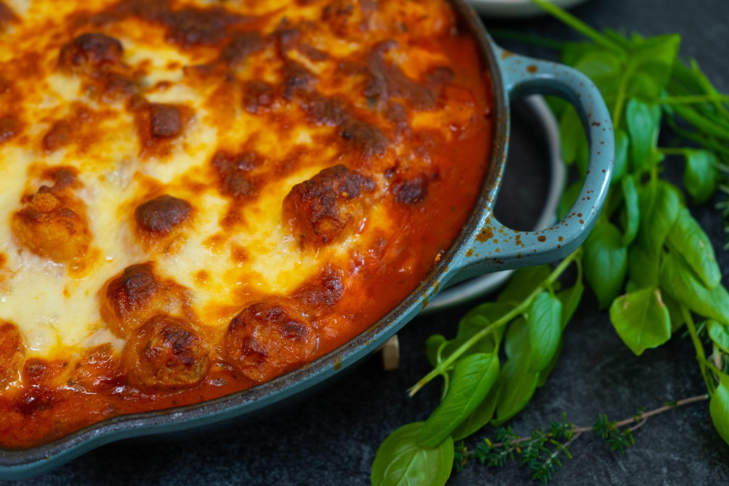 Sweet potato gnocchi lasagna